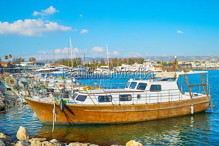 motorboats yachts marina paphos cyprus