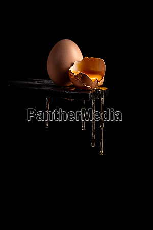 concept image of a broken brown