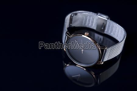 wrist watch for women on black