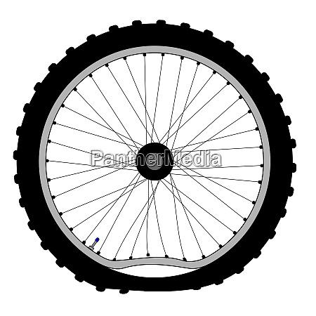 buckled bicycle wheel