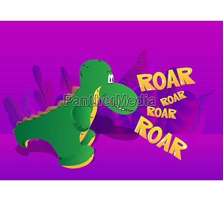 tyrannosaurus rex on purple background