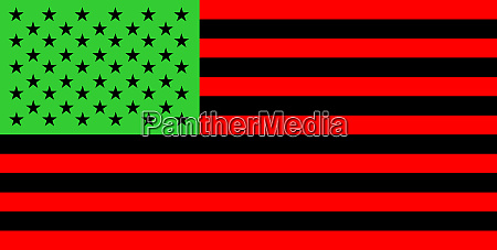 afro american people flag