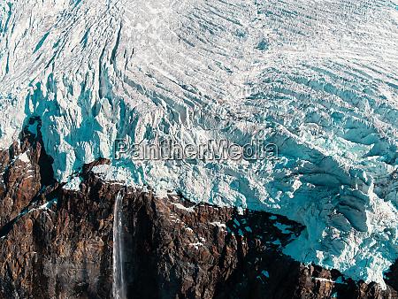 aerial view of the fellaria glacier