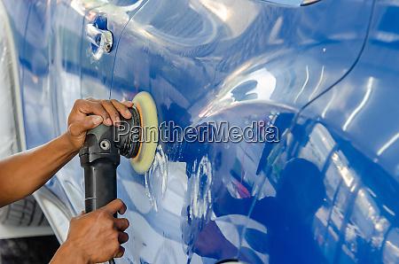 polishing cars