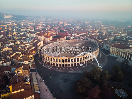 aerial view of the verona arena