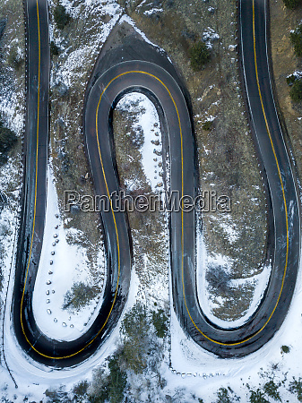aerial view of lookout mountain roadway