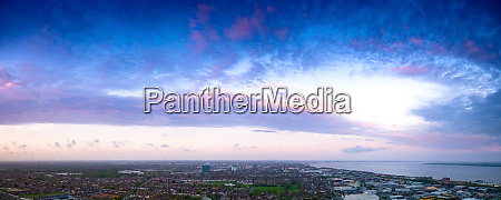 panoramic aerial view of clouds at