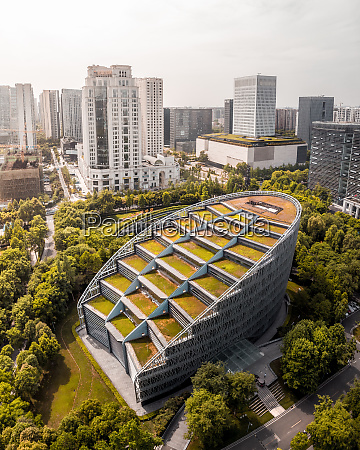 aerial view of international finance centre