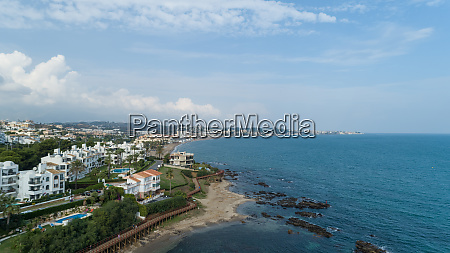 aerial view of playa de butibamba