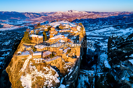 aerial view of the holy monastery
