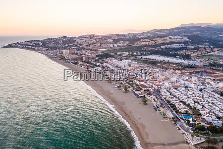 aerial view of playa de las