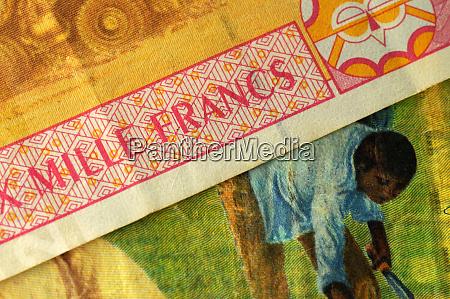 close up on cfa franc