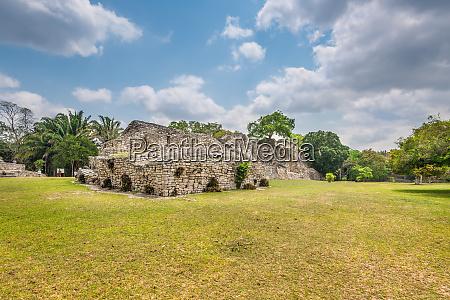archaeological zone of kohunlich yucatan peninsula
