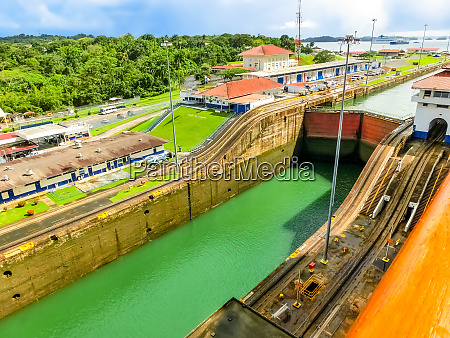 view of panama canal from cruise