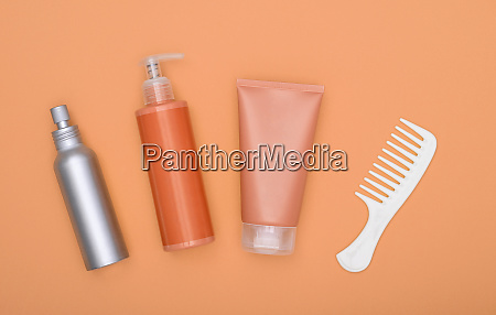 feminine beauty hair care set on
