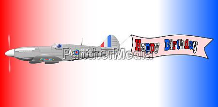 birthday airplane banner