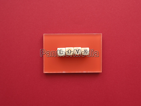 wooden blocks with the word love