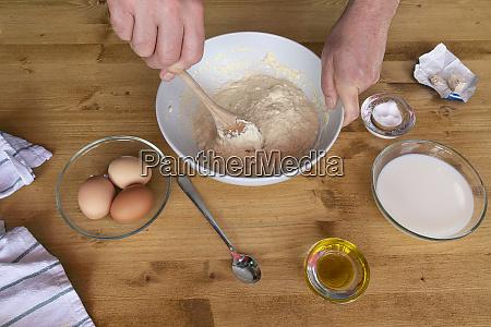 the bread preparation