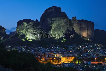 kalambaka village in famous tourist destination