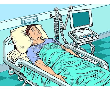medical ventilator machine heavy patient in