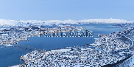 panoramic view on tromso norway tromso