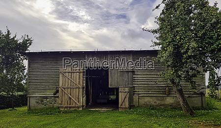 old barn in polish village