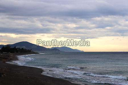 alanya black sea shoreline landscape turkey