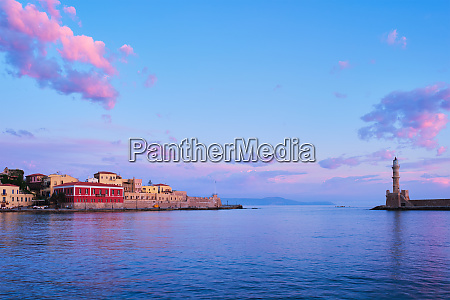 picturesque old port of chania crete