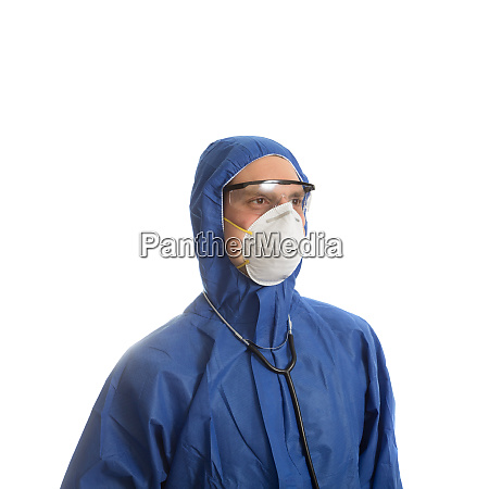 doctor in protective clothing