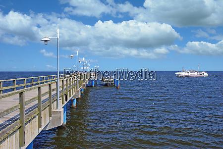 pier of bansin usedom baltic sea