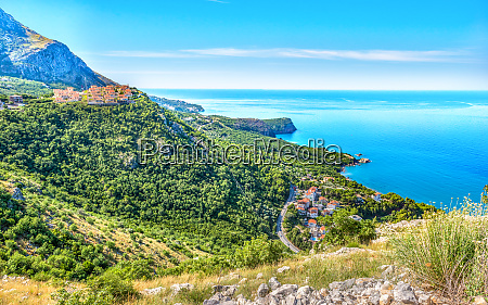 montenegrin villages and sea