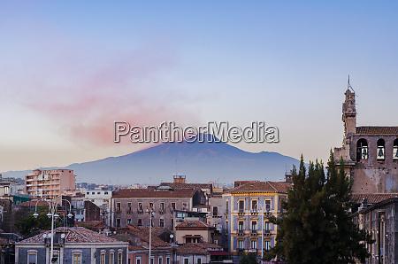 catania city centre and etna volcano