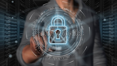 cyber security internet and networking concept