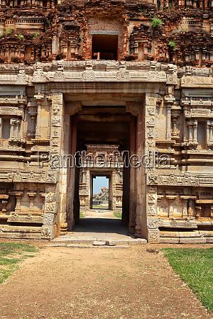 gate in gopuram ruins in hampi