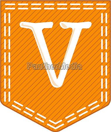 orange pocket v