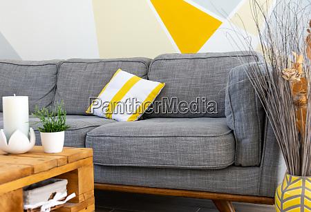 stylish scandinavian style cozy living room