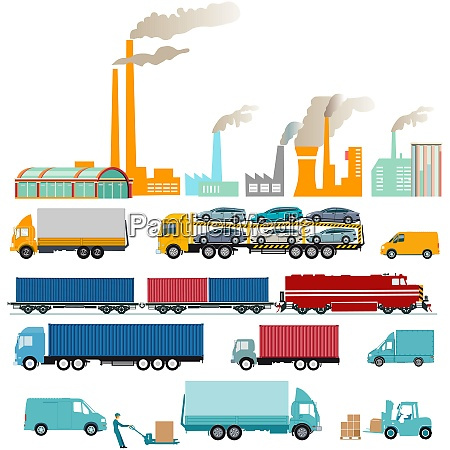 industry factories and freight transportation