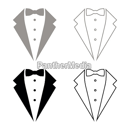 symbol service dinner jacket bow tuxedo