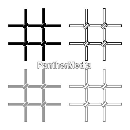 prison bars metal grid icon outline