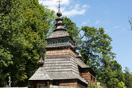 old wooden orthodox church in bartne