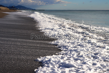 calm sea beach shoreline seascape background