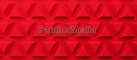 abstract modern red pyramid background