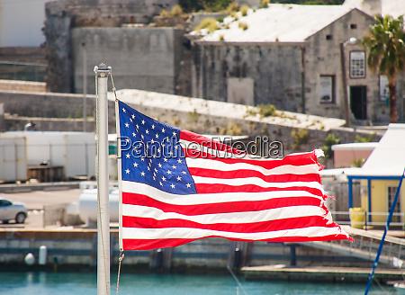 american flag flying in bermuda