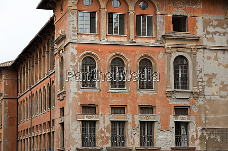 windows of old house in rome