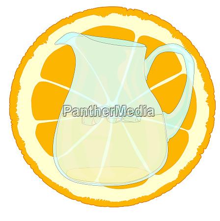 orangeade with slice