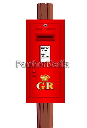 post mounted post box