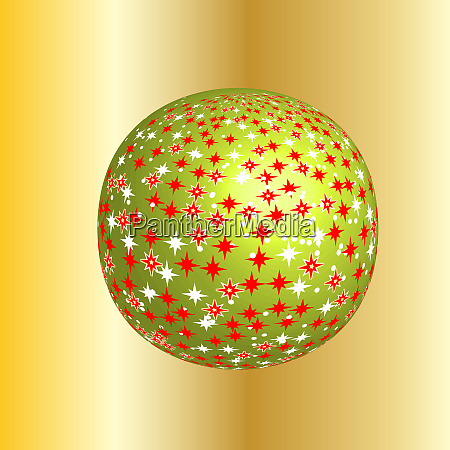 sparkling christmas globe