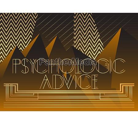 art deco psychologic advice text