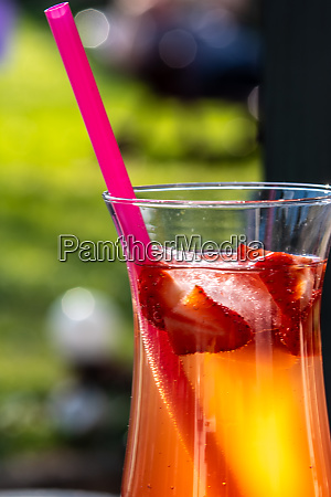 strawberry summer cocktail drink