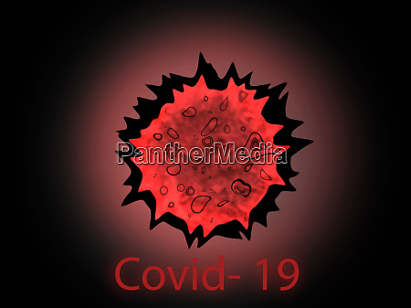 covid 19 virus cell microbe created